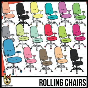 Rolling, Swivel, Office Chair Clipart