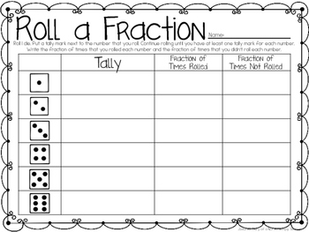 Rolling Through Fractions: 8 Math Centers