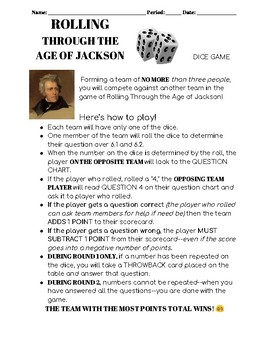 Rolling Through The Age of Jackson Dice Game!