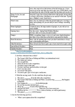 Rolling cheese worksheet