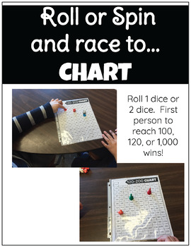 Rolling for 120 Hundreds Chart Math Game