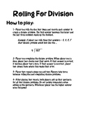 Rolling for Division Game