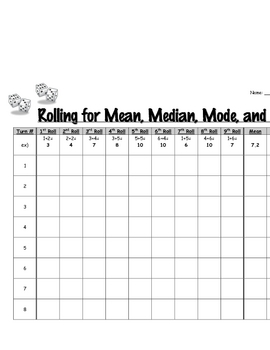 Rolling for Mean, Median, Mode, and Range
