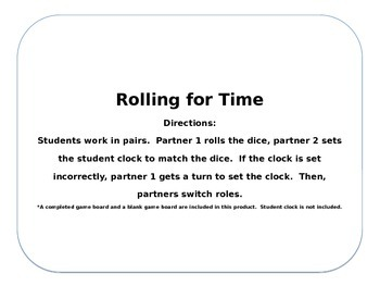 Rolling for Time