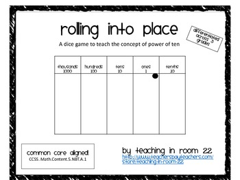 Rolling into place: regrouping place value