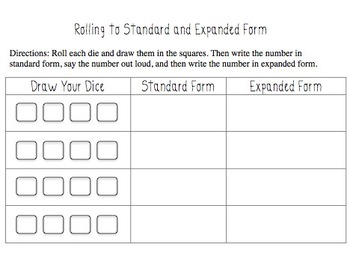 Rolling to Standard and Expanded Form