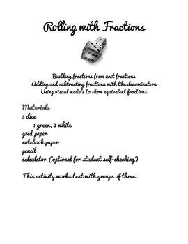 Rolling with Fractions Workshop Activities