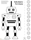 Rolly Robot Beginning Math Printable Game (Pre-K- 2nd)