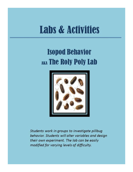 Roly Poly/Isopod Behavior Lab