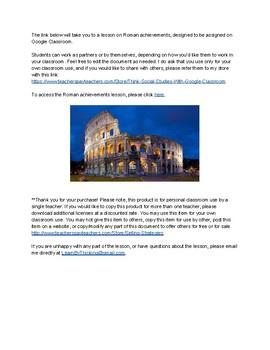 Roman Achievements for Google Classroom