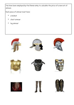 Roman Armour Costing Investigation