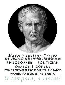Roman Authors: Cicero (Poster)