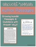 Ancient Roman Literature Authors: Passages & Questions