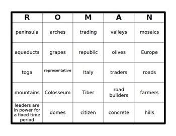 Roman Bingo