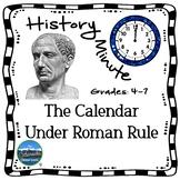Roman Calendar History Minute Cross Curricular History and