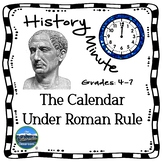 Roman Calendar History Minute Cross Curricular History and
