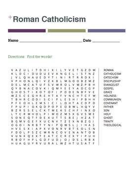 Roman Catholicism Word Search