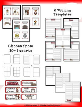 Roman Civilization Interactive Mini Research Fold-Ems and Activities
