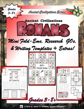 Roman Civilization Interactive Mini Research Fold-Ems and