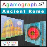 Roman Colosseum Agamograph Art Project for Ancient Rome or Roman Empire