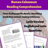 Roman Colosseum Reading Comp Bundle (Latin w/English & Latin Questions)