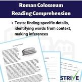 Roman Colosseum Reading Comprehension Worksheet