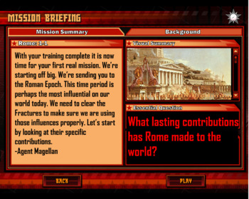 Roman Contributions Animated PowerPoint Presentation