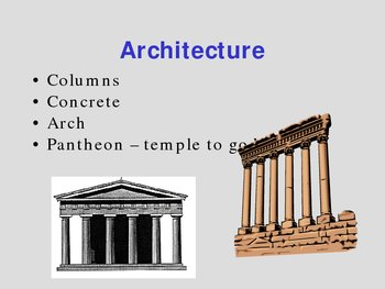Roman Contributions to the World - PowerPoint