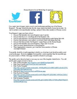 Roman Emperor Social Media Page
