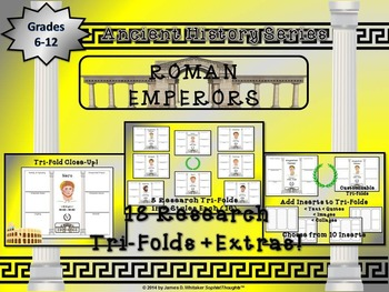 Roman Emperors  Triple Pack Activity Bundle