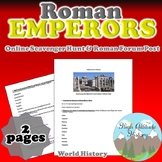 Roman Emperors Online Scavenger Hunt and Roman Forum Post