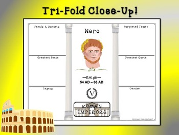 Roman Emperors Research Tri-Folds