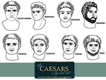 Roman Emperors: The Caesars Clip Art Set