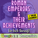 Roman Emperors and Their Achievements (or lack thereof) - A Timeline Assignment!