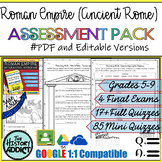 Roman Empire (Ancient Rome) Assessment Pack – Tests & Quizzes
