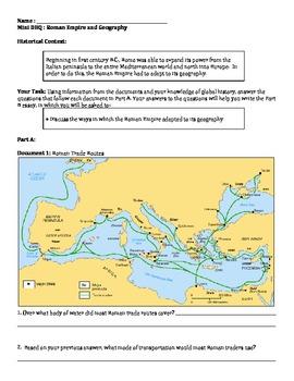 Roman Empire - Ancient Rome Geography Mini DBQ
