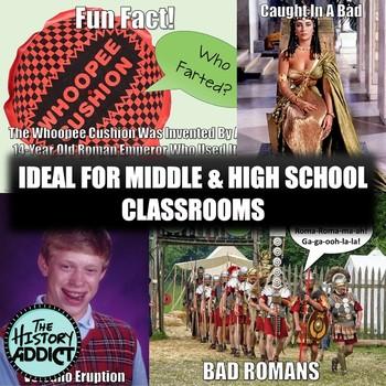 Roman Empire (Ancient Rome) Themed Classroom Poster Set (Memes)