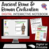 Roman Empire & Civilization DIGITAL Interactive Notebook U