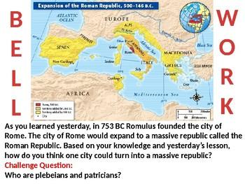 Roman Empire Lesson 2: The Roman Republic