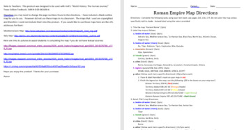 Roman Empire Mapping Activity