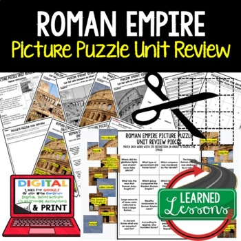 Roman Empire Picture Puzzle Unit Review, Study Guide, Test Prep (World History)