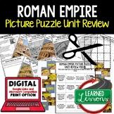 Roman Empire Picture Puzzle Unit Review, Study Guide, Test Prep (World History)