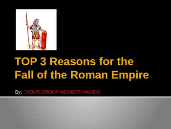 roman empire top 3 reasons for rome s fall powerpoint template