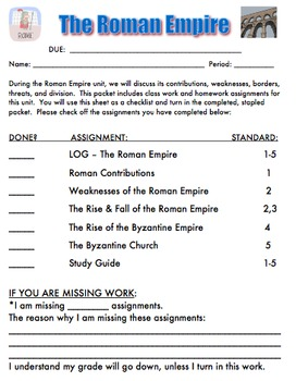Roman Empire Unit - Student Notes Packet, 5 PowerPoints & ANSWER KEY