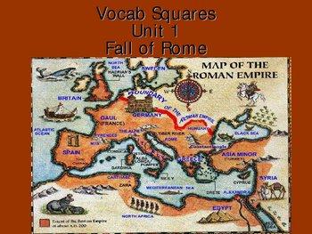 Roman Empire Vocabulary Presentation