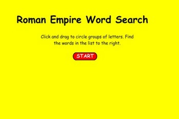 Roman Empire Vocabulary Word Search - Bill Burton