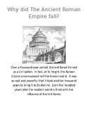 Roman Empire (why did it fall activity)