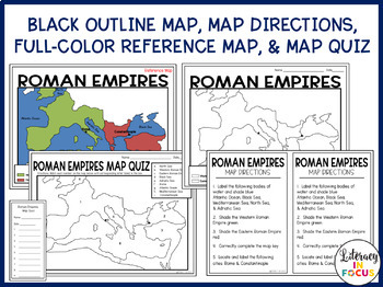 Roman Empires Map Lesson and Assessment- Engaging Map Activity!