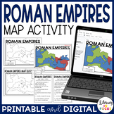 Roman Empires Map Lesson and Assessment (Digital and PDF Versions)
