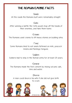 The Romans Fact Cards